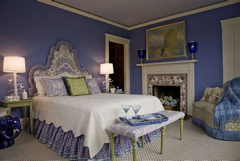 Blue And Purple Room by Decorating The Bedroom With Green Blue And Purple