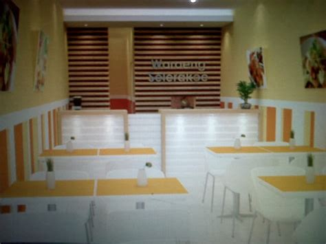 Meja Etalase Counter jasa eksterior interior desain jasa desain warung makan