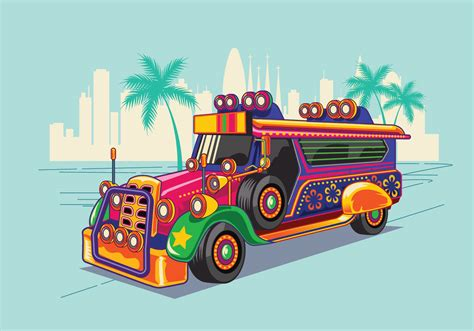 jeepney philippines drawing philippine jeep vector illustration or jeepney