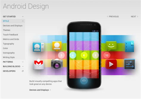 android design guidelines android given new design guidelines addresses the