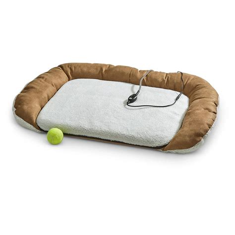 heated dog beds bolster heated pet bed 622695 pet accessories at