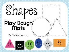 Playdough Templates by Shape Play Dough Mats Prekinders