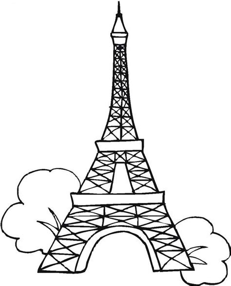 coloring page of eiffel tower 7 wonders of the world free colouring pages