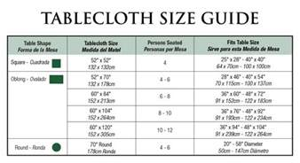 dining table cloth dimensions collections
