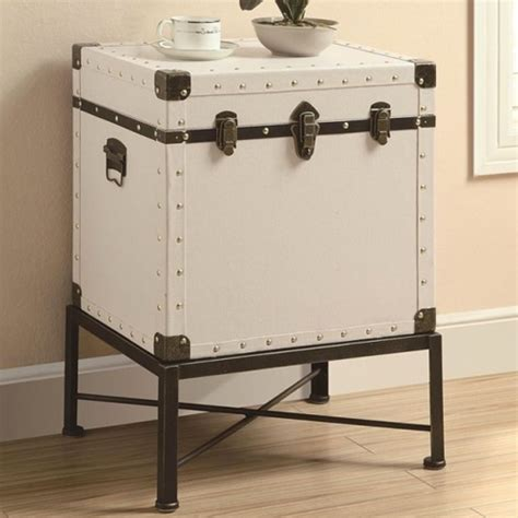 trunk style side table pottery barn ludlow trunk side table copycatchic