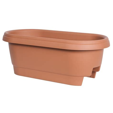 cobraco canterbury 24 in steel deck rail planter dpbcb24