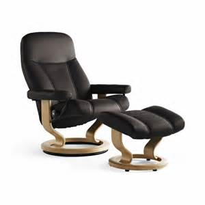 stressless consul medium recliner chair footstool