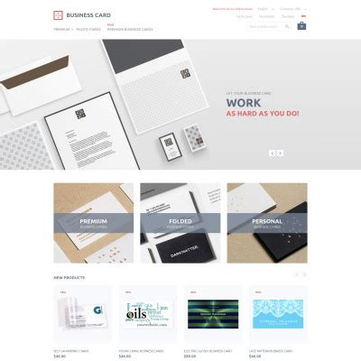 Bootstrap Business Card Template by Business Magento Themes