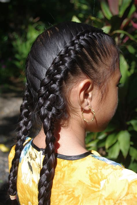 french braided weave braids hairstyles for super long hair micronesian girl