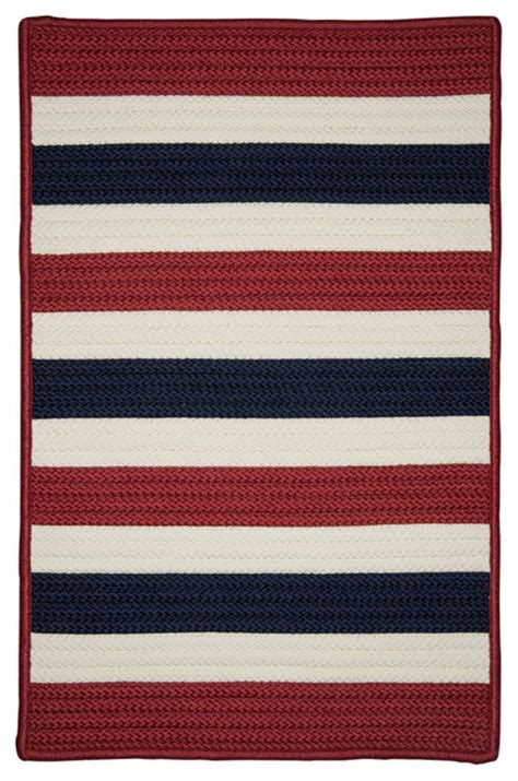 Patriotic Area Rugs Colonial Mills Portico Po29 Patriotic Stripe Braided Rug Reviews Houzz