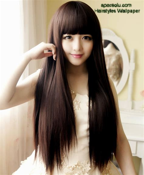 japanese haircut for long straight hair straight bangs hairstyles asian hairstyles ideas
