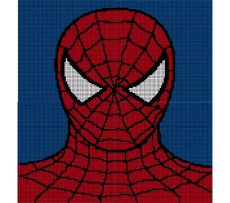 spiderman brick pattern spiderman crochet pattern afghan graph crochet graphgans