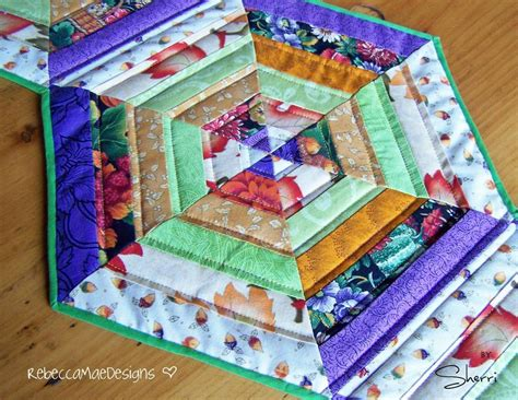pattern quilted table runner quilted table runner hexagon pattern pattern on craftsy