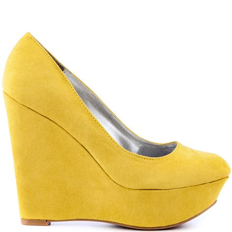 genevieve yellow suede veda soul 64 99 free shipping