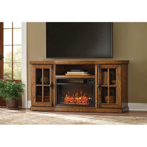 electric fireplace tv stand home depot home decorators collection manor place 67 in tv stand w