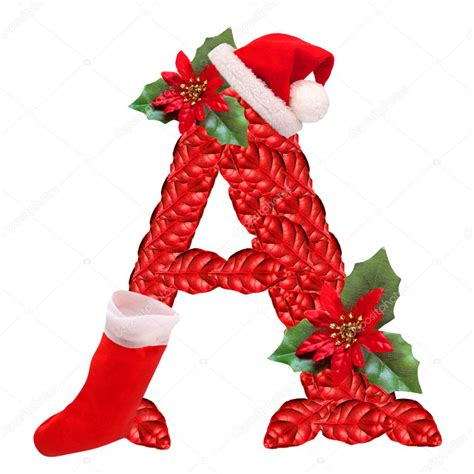 christmas letter   santa claus cap  part  great christmas alphabet stock photo