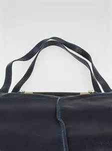 Saskia Square Tote by Navy Blue Leather Saskia Square Tote Bag Yoogi S
