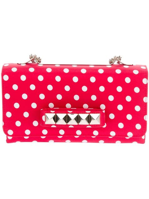 Valentino Polka Dot Clutch by Lyst Valentino Polka Dot Shoulder Bag In