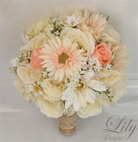 Silk Flowers Wedding Bouquet by 17 Package Silk Flowers Wedding Bouquet Artificial