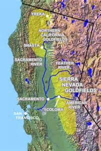 map of california gold mines california gold panning gold prospecting equipment and