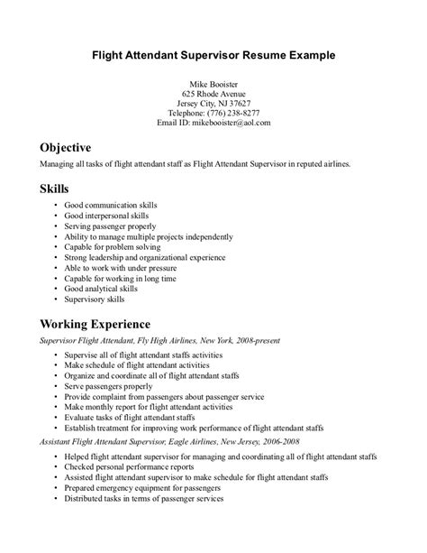 flight attendant resume template 2015