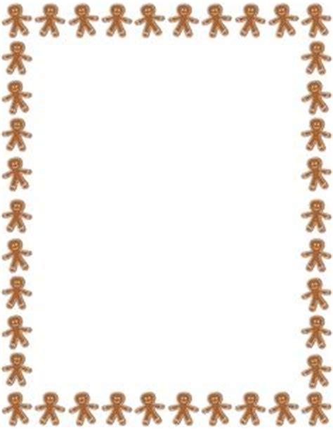 free printable gingerbread man border fotograf 237 a marcs pinterest