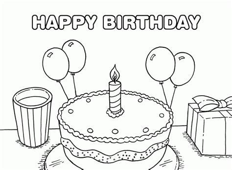 happy birthday coloring pages to print 36 awesome and free printable coloring birthday cards