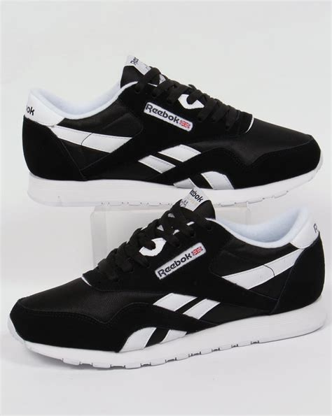 Reebok Black reebok classic trainers black white shoes mens