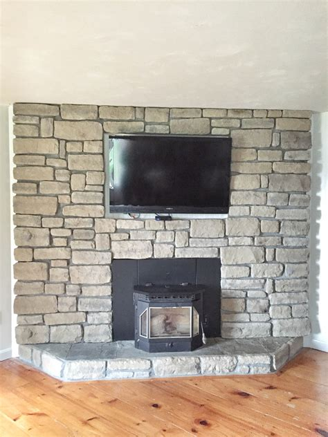 stone facade fireplace back to best stone veneer fireplace