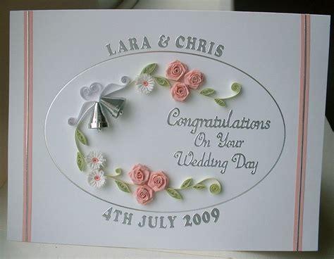 Handmade Wedding Congratulations Cards - quilled wedding card congratulations handmade greeting