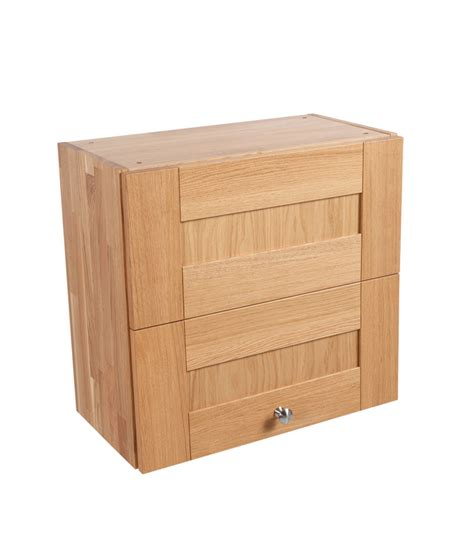 Kitchen Wall Cabinets Uk Solid Oak Kitchen Wall Cabinet H570mm X W600mm X D300mm 1 X Bi Fold Shaker Lacquered Frontal
