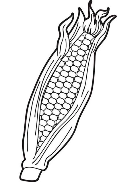 Corn Coloring Pages Download And Print Corn Coloring Pages Coloring Page Of Corn