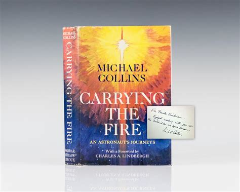 carrying the fire an carrying the fire michael collins first edition signed apollo 11
