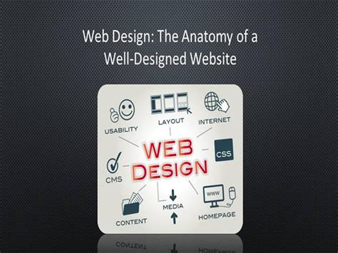 Web Design The Anatomy Of A Well Designed Website Well Designed Presentations
