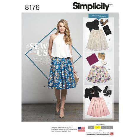 envelope skirt pattern pattern 8176 misses dirndl skirts in three lengths