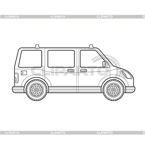 Outline Style Auto by Stock Photos And Vektor Eps Clipart Cliparto