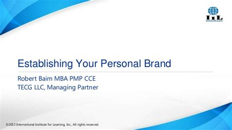 Mba Partners Llc by Establishing Your Personal Brand