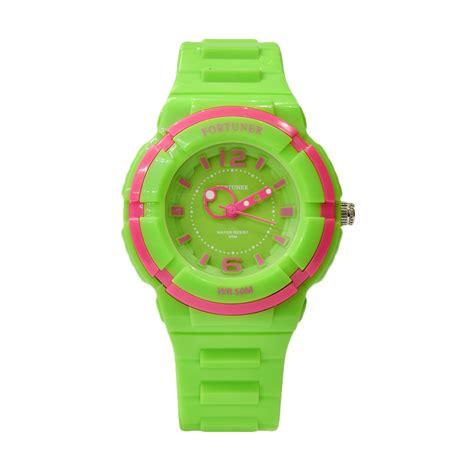 Jam Tangan Fortuner Quartz jual fortuner fr866grn jam tangan wanita green