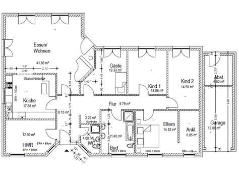 bungalow 4 schlafzimmer grundriss bungalow 180 qm 2 kinderzimmer schlafzimmer mit ankleide