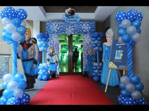 frozen themed party kelso frozen theme party by www kforkids in youtube
