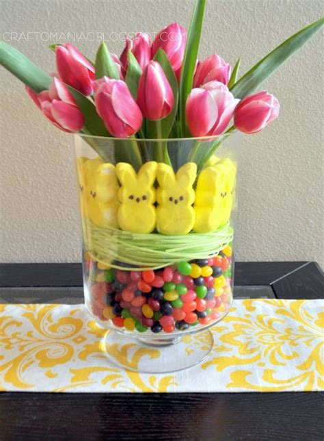 easter centerpiece ideas easter candy tulip arrangement from www craft o maniac com