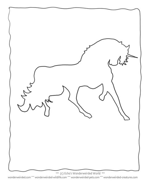 Unicorn Outline by Unicorn Outline Clipartion