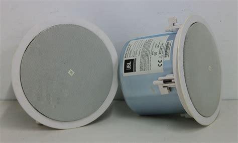 2 x jbl 26c white 70v 100v tap ceiling wall mount