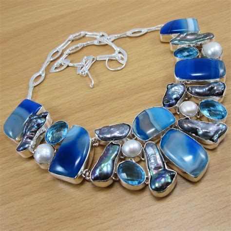 Cheap Handmade Jewelry - wholesale jewelry lace agate pearl 925 sterling silver