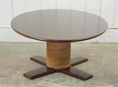 Rope Table L by Large Rope And Wood Dining Table At 1stdibs