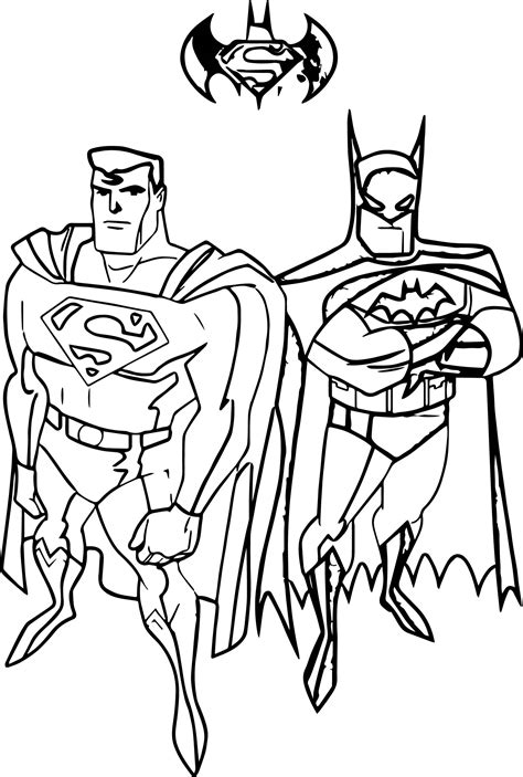coloring pages of batman and superman batman and superman coloring pages for print free