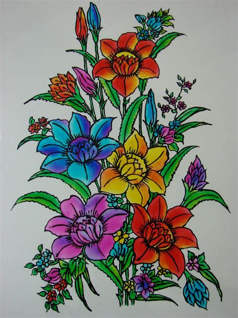 flower design in glass glass painting glass painting dhonuk glass painting