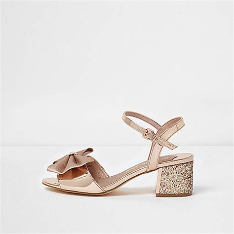 gold wide fit sandals gold bow wide fit glitter block heel sandals sandals