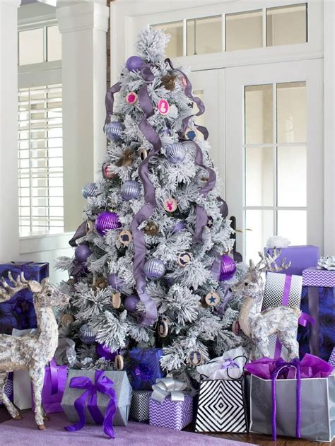 plum color christmas tree decorations 30 dreamy flocked tree decoration ideas celebration all about