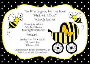bumble bee baby shower invitation birthday ideas